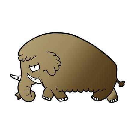 Cartoon Mammut Illustration Design Standard-Bild - 95583443