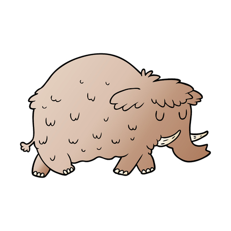 Cartoon prähistorischen Mammut Standard-Bild - 95549784