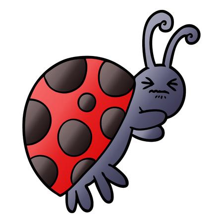 cartoon ladybug illustration design