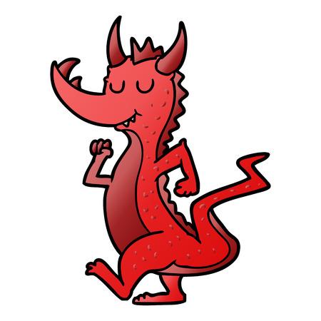 Cartoon cute dragon