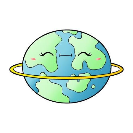 Cartoon habitable alien planet