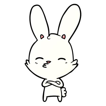 Curious bunny cartoon Ilustração