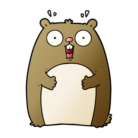 Cartoon shocked ground hog