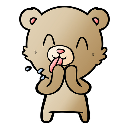 rude cartoon bear 스톡 콘텐츠 - 95543980