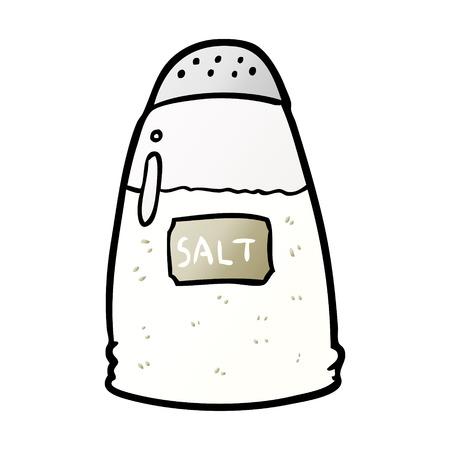 Hand drawn cartoon salt shaker 일러스트