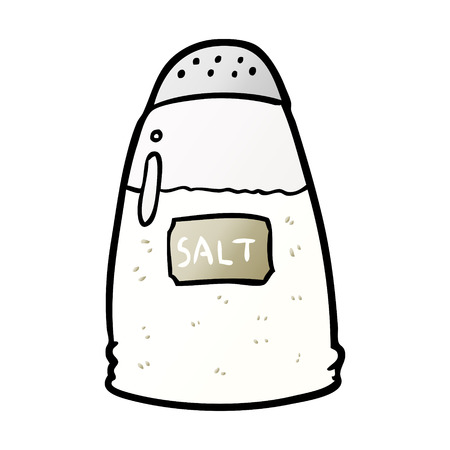 Hand drawn cartoon salt shaker Vectores