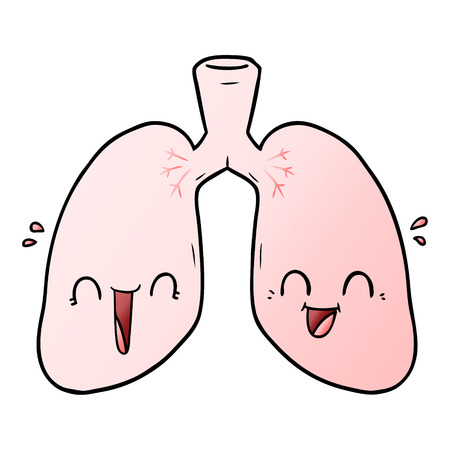 cartoon happy lungs
