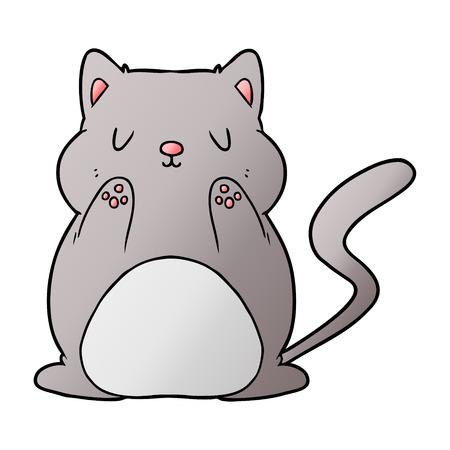 Big fat cat graphic design in cartoon illustration.