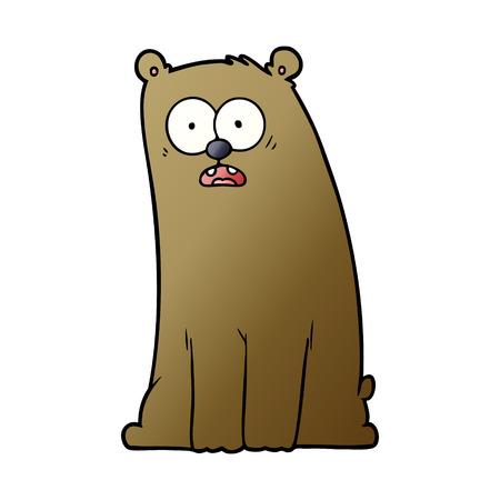 cartoon surprised bear