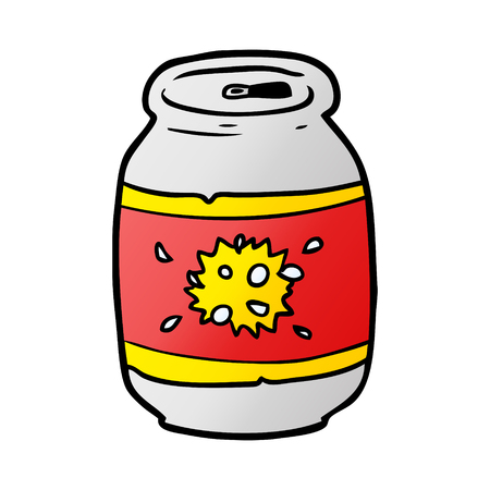 Cartoon can of soda