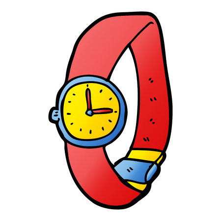 cartoon wrist watch Ilustrace