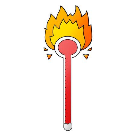 Burning Cartoon thermometer