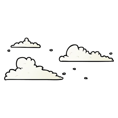 Cartoon clouds drifting by Illustration