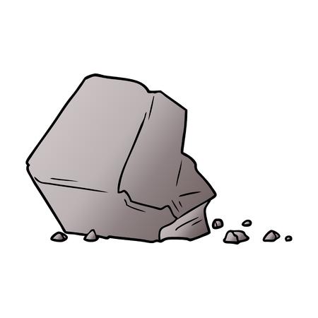 A cartoon large rock illustration