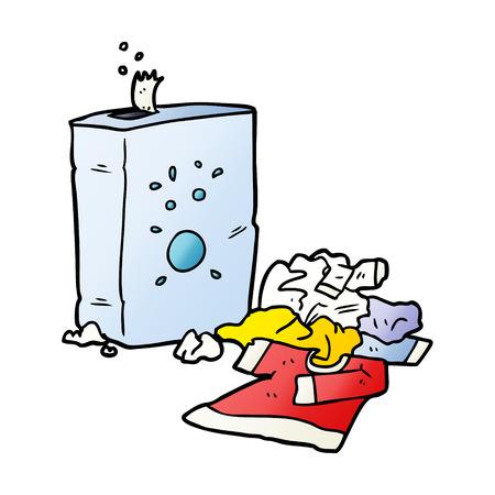 Detergente en polvo de dibujos animados y lavandería Foto de archivo - 95583778