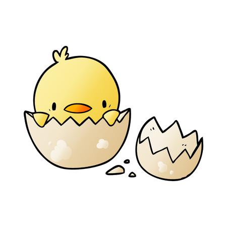 pollito de dibujos animados lindo de huevo