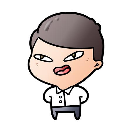 cartoon happy businessman