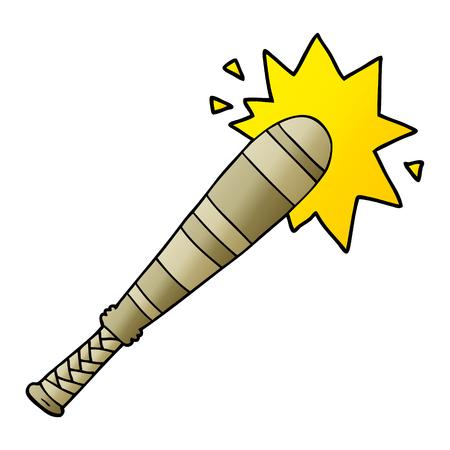cartoon baseball bat hitting Фото со стока - 95583791