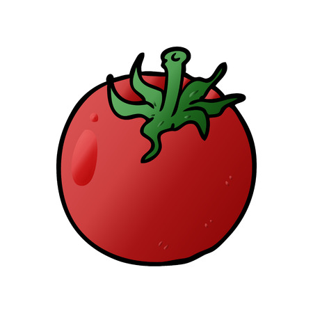 cartoon fresh tomato Ilustração