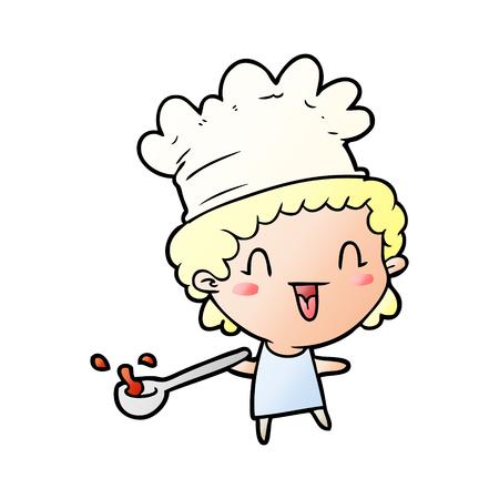 cute cartoon happy chef Banque d'images - 95584002