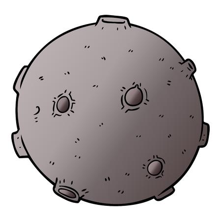 Una ilustración de luna de dibujos animados Ilustración de vector