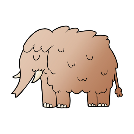 cartoon mammoth illustration design.