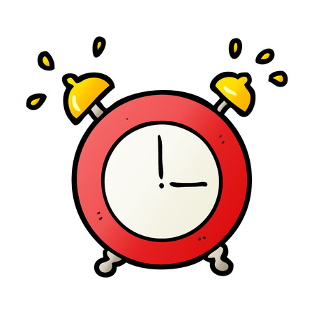 cartoon ringing alarm clock Illustration