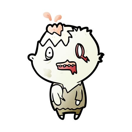 Hand drawn cartoon zombie