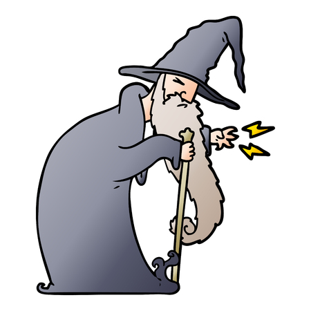 cartoon wizard illustration design