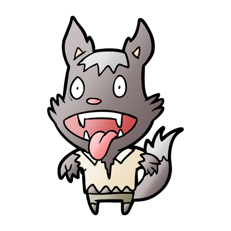 cartoon halloween werewolf 向量圖像