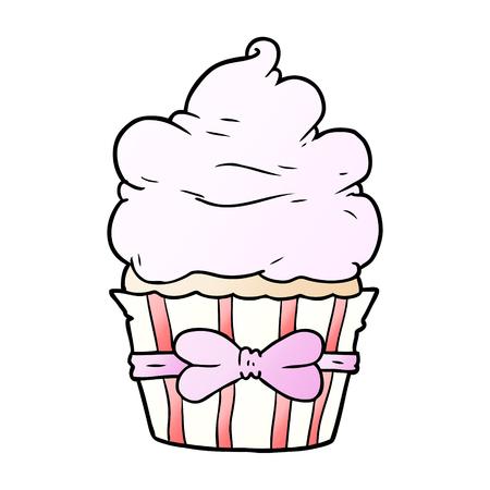 cartoon fancy cupcake