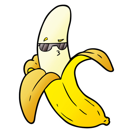 cartoon banana illustration design
