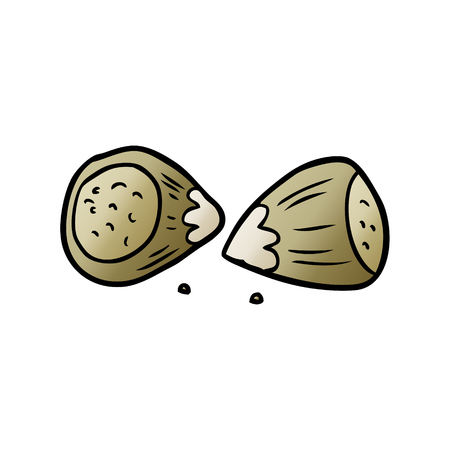 Hand drawn cartoon hazelnuts