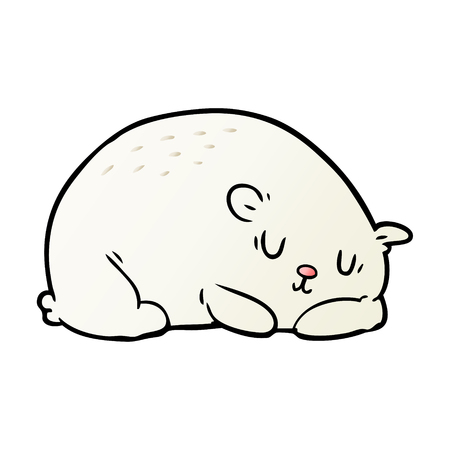 A cartoon sleepy polar bear