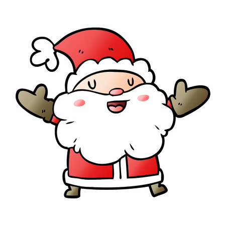 Santa claus graphic design in cartoon illustration.