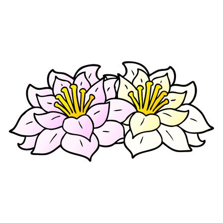 Flowers graphic design in cartoon illustration.
