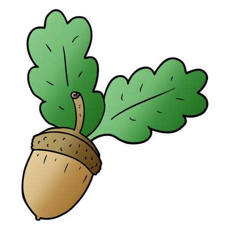 Cartoon acorn illustration  イラスト・ベクター素材