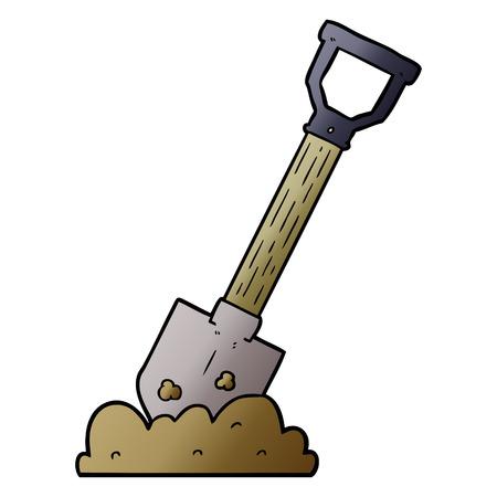 Shovel graphic design in cartoon illustration.