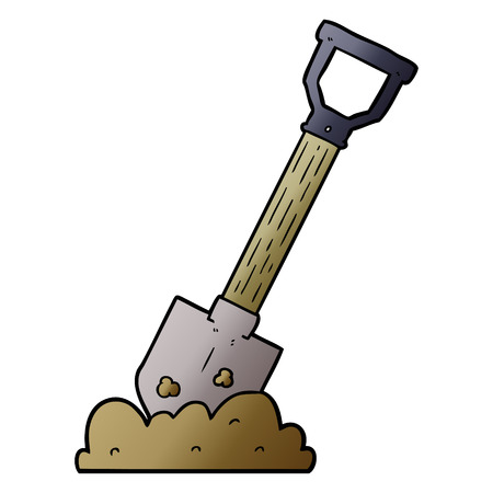 Shovel graphic design in cartoon illustration.