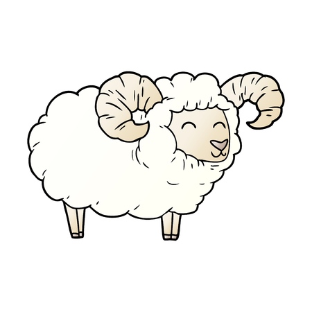 cartoon ram illustration design Stock Illustratie
