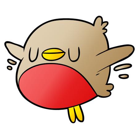 cute cartoon christmas robin