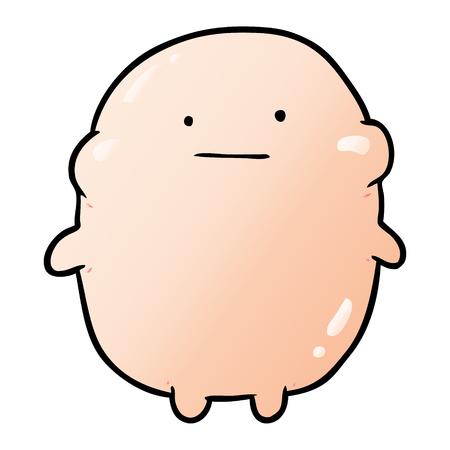 cute fat cartoon human
