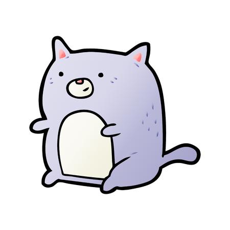 cartoon cat illustration design.