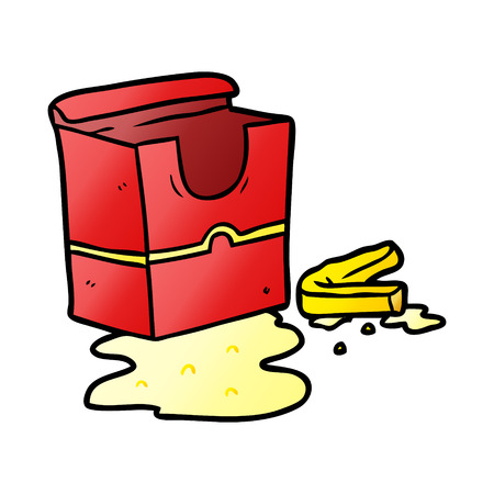 cartoon empty box of fries Banco de Imagens - 95584831