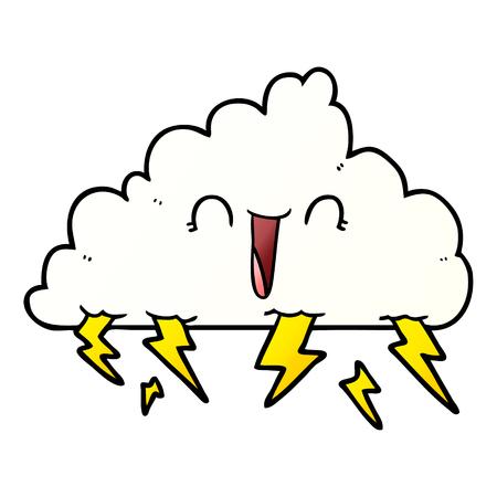 Thundercloud graphic design in cartoon illustration. Reklamní fotografie - 95581853
