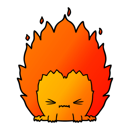 cartoon fire creature