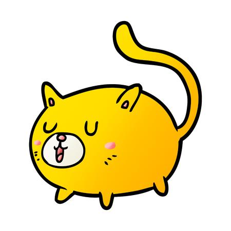 cartoon happy cat Stock Vector - 95544481