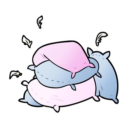 cartoon pile of pillows