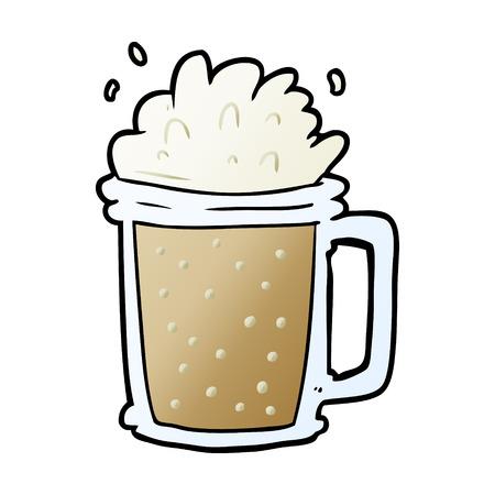 cartoon pint of ale Ilustração