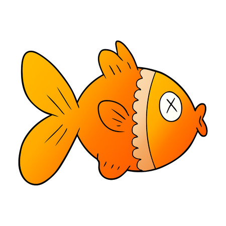 cartoon goldfish illustration design